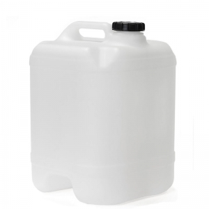 20L Natural HDPE Undrilled & Bunged Cube With 58mm TE Screw Neck