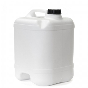 20L White HDPE DGA Undrilled & Bunded Cube With 58mm Screw Neck
