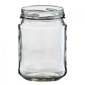 250ml Glass Round Food Jar With 63mm Twist Neck