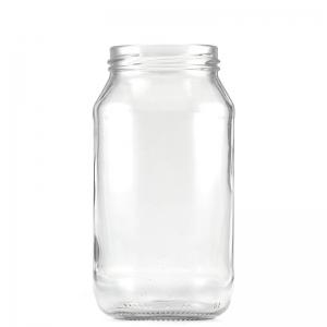 500ml Glass Round Food Jar With 63mm Twist Neck (Bulk)