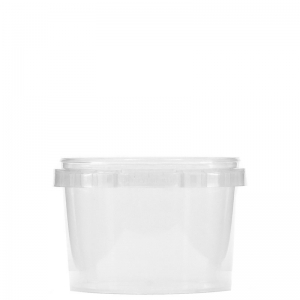 565ml Clear PP Round Food Container With 118mm Push On Neck