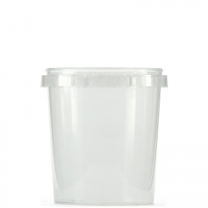 870ml Clear PP Round Food Container With 118mm Push On Neck
