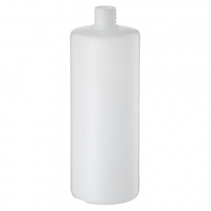 1L Natural HDPE Round Bottle With 28mm 410 Screw Neck