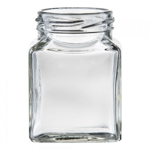 110ml Glass Square Jar With 48mm Twist Neck