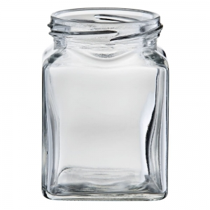 270ml Glass Square Jar With 63mm Twist Neck