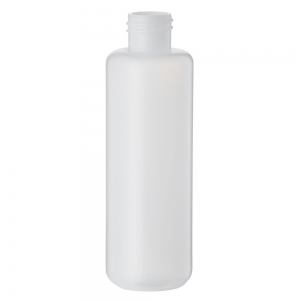 250ml Natural HDPE Round Bottle With 28mm 410 Screw Neck