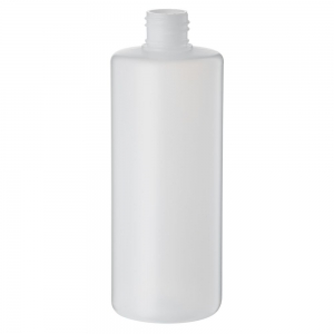 500ml Natural HDPE Round Bottle With 28mm 410 Screw Neck