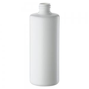 500ml White HDPE Round Bottle With 28mm 410 Screw Neck