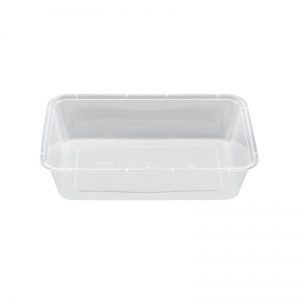 500ml Natural PP Rectangular Food Container With Push On Neck
