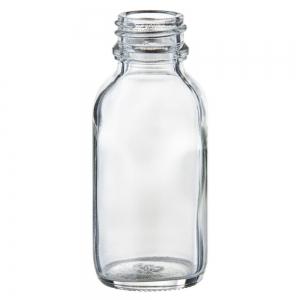 50ml Flint Glass Round Bottle With 24mm TT Screw Neck