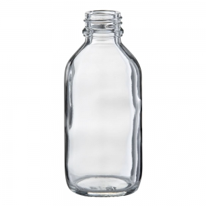 100ml Flint Glass Round Bottle With 24mm TT Screw Neck