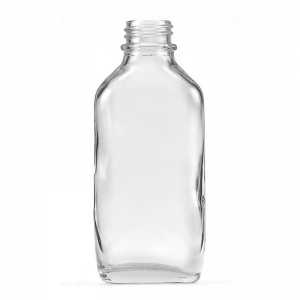 100ml Flint Glass Oval Flask With 24mm 400 Screw Neck