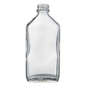 200ml Glass Oval Flask With 24mm TT Screw Neck