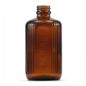 200ml Amber Glass Poison Bottle With 24mm TT Screw Neck