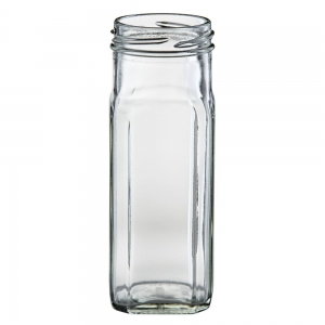 250ml Glass Tall Square Jar With 53mm Twist Neck
