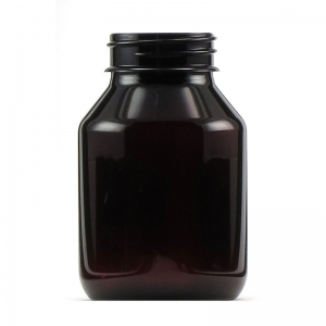 155ml Amber PET Round Bottle With 38mm TE Screw Neck