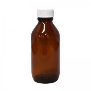 100ml Amber Glass Round P/Pack With 24mm 400 Screw Neck