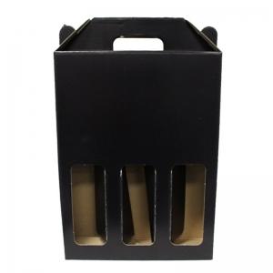 Black 3 Bottle Carry Pack 254X82X338