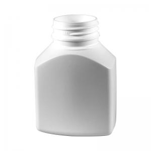 150ml White HDPE Rectangular Tablet Bottle With 38mm TT Screw Neck