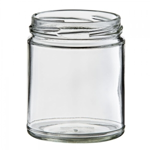 270ml Glass Round Jar With 70mm Twist Neck