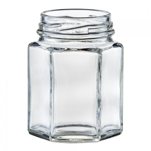 110ml Glass Hexagonal Jar With 48mm Twist Neck