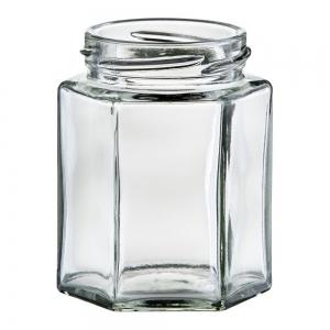 190ml Flint Glass Hexagonal Jar With 58mm Twist Neck