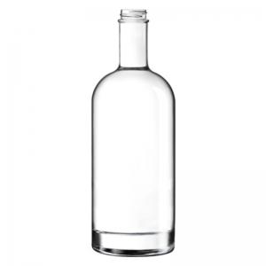 1L Flint Glass Premium Oslo Spirit Bottle With 33mm 400 GPI Neck