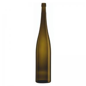 1.5L Antique Green Glass Flute Altus Bottle With BVS Neck