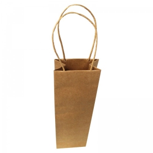 Brown Single Bottle Carry Bag