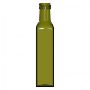 250ml Antique Green Glass Marasca Bottle With PP31.5mm Neck