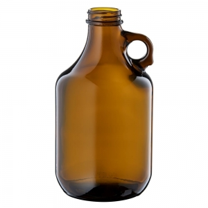 946ml Amber Glass Squealer Bottle With 38mm 400 Screw Neck