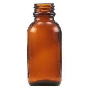 50ml Amber Glass Round Bottle With 24mm TT Screw Neck