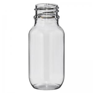50ml Clear PET Round Bottle With 24mm TT Screw Neck