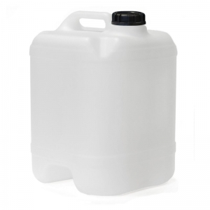 20L Natural HDPE Drilled & Bunged Cube With 58mm Black TE Cap